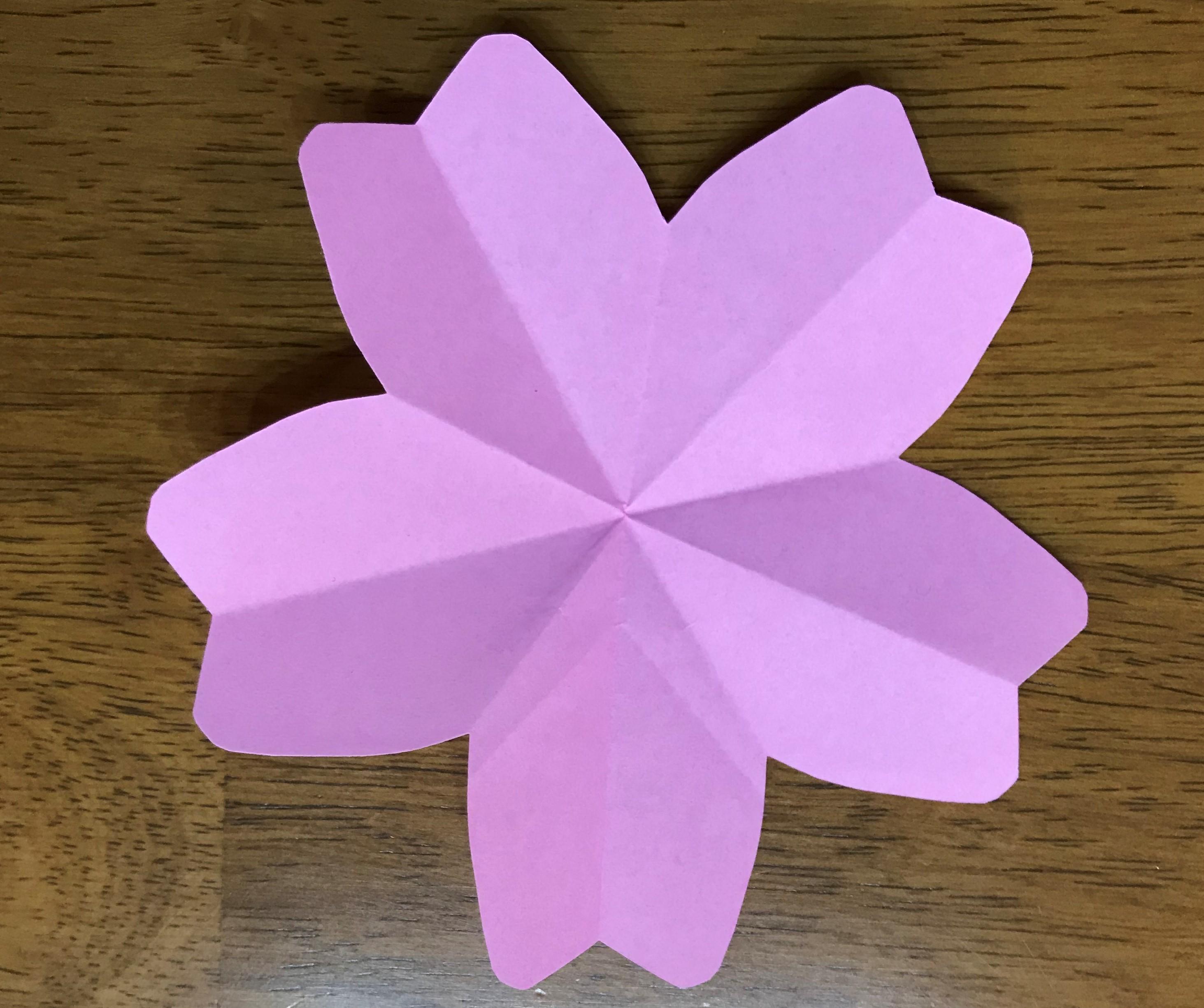 ひな祭りの折り紙の作り方!子供でも簡単にできる桜の花びら!